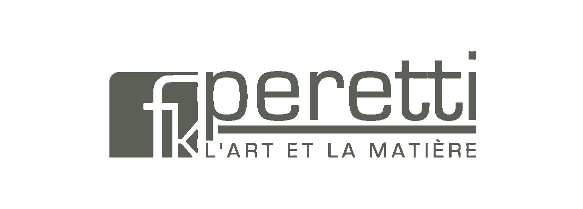 logo peretti l'art et la matière vert partenaire